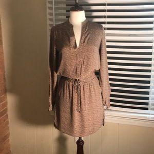 Vince silk shirt dress size 4